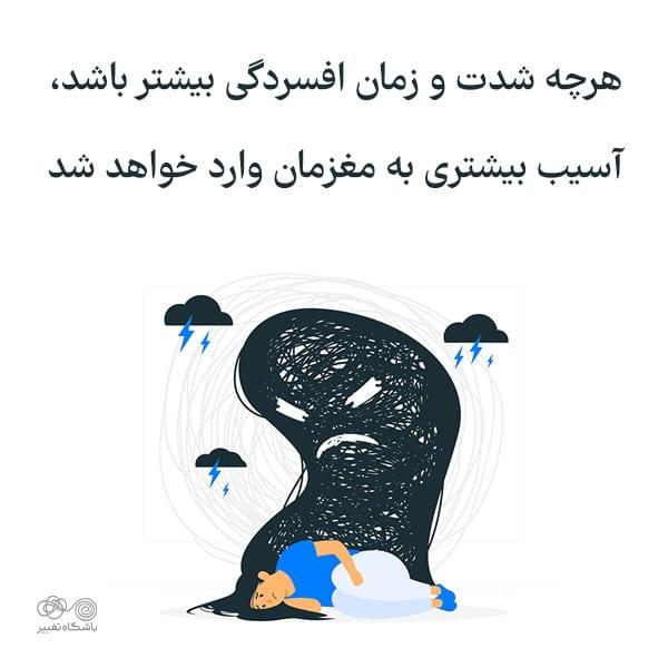 آسیب افسردگی به مغز